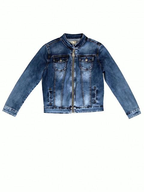 Джинсовая куртка женская GUAIKU на молнии 8913