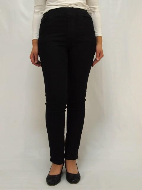 Джинсы женские черные с поясом-резинкой R&B 1092