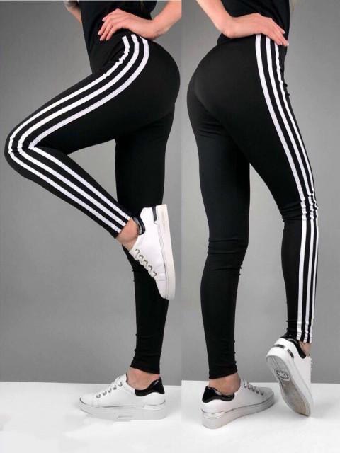 Лосины женские спортивные с тремя полосами