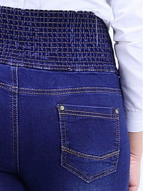 Джинсы женские на корсетном поясе-резинке утепленные 1516 (Акция! Распродажа!)