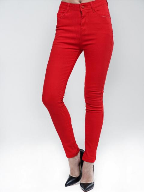 Джинсы женские K.Y Jeans красные 1250-2