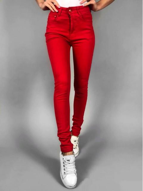 Джинсы женские K.Y Jeans красные 1250