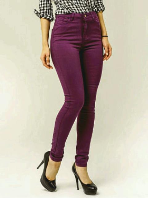 Джинсы женские Denim фиолетовый 1254