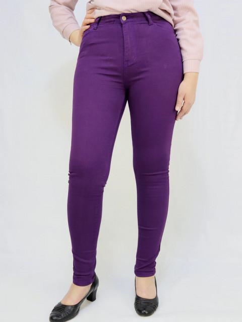 Джинсы женские Denim фиолетовый 1254 (АКЦИЯ!) Только в июле цена 790 руб!!