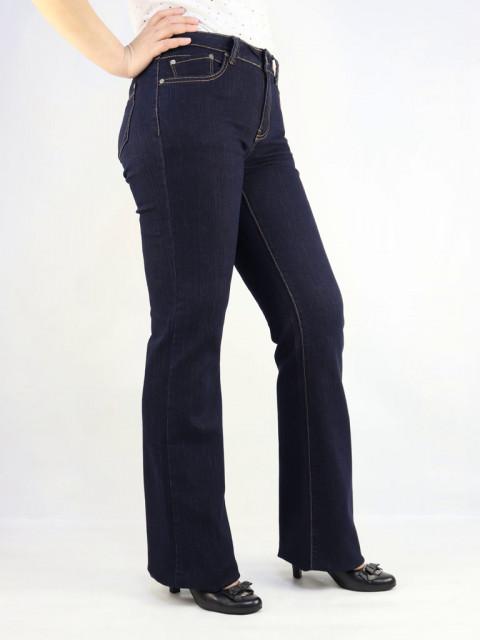 Джинсы женские Bicstar клеш  цвет темно-синий (АКЦИЯ!)