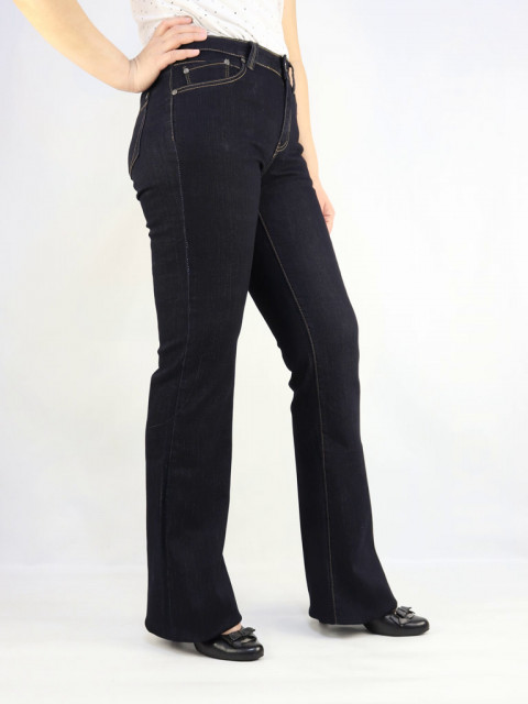Джинсы женские Bicstar клеш цвет черный (АКЦИЯ!)