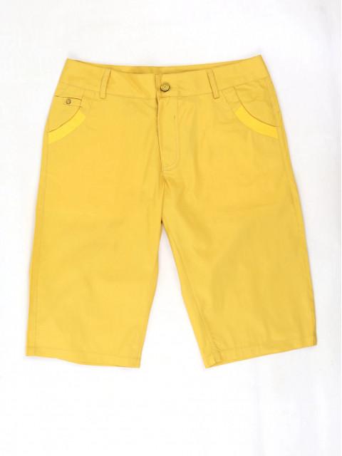 Шорты женские удлиненные 1390 желтый АКЦИЯ! Последний размер