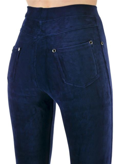 Леггинсы женские велюр синий
