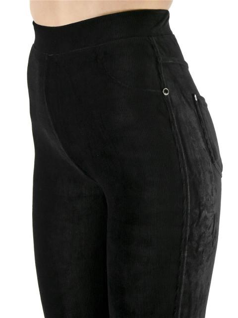 Леггинсы женские велюр черный
