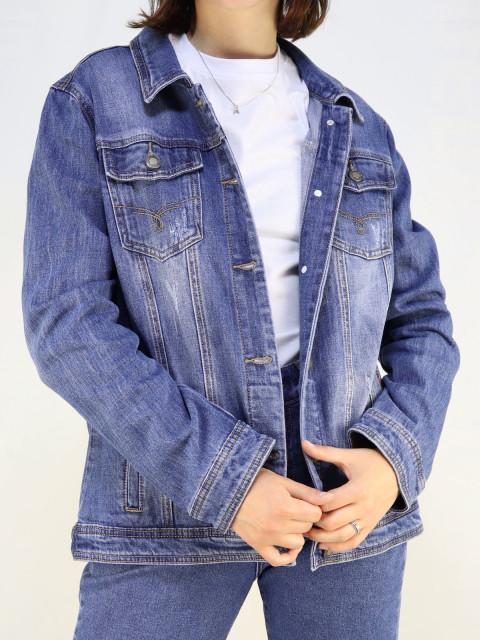 Куртка женская джинсовая GUAIKU 1654 Большие размеры