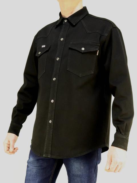 Рубашка мужская CARLO SPACE  1657 черный