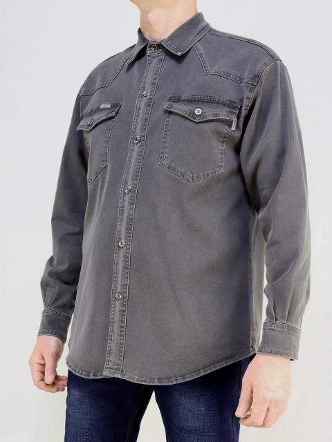 Рубашка мужская CARLO SPACE  1681 серый