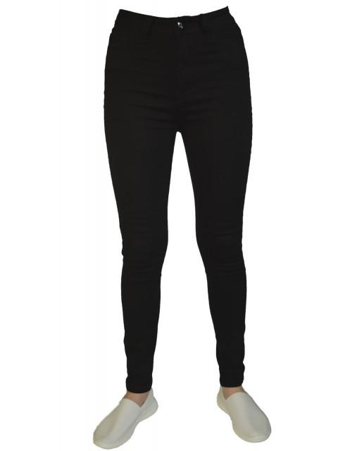 Джинсы женские K.Y Jeans черные с высокой талией