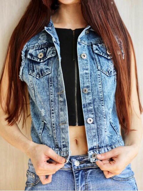 Жилет женский джинсовый